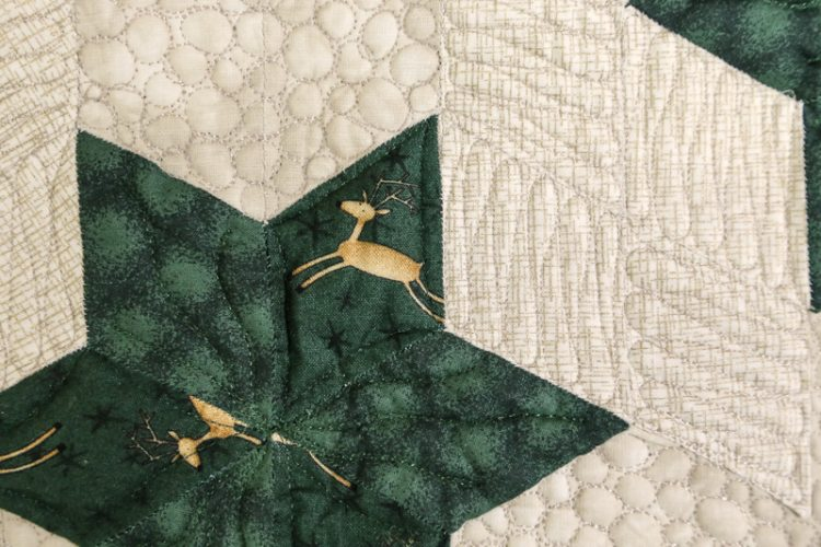 Detail Rentier-Stern Quilt